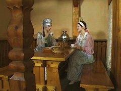 Juvenile Russian lesbo babes