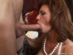 Deauxma is a sexy MILF who loves putting moist schlong in her mouth