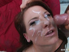 Casey Cumz acquires her face saturated with warm cum