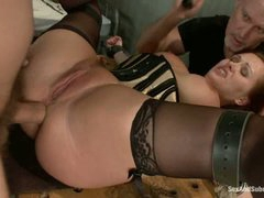 Slave Katja Kassin gets her fudge packed