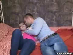 Hot casual foursome european teen fuck