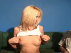Slim sexy blonde must grope her hawt mounds