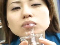 Ryoko receives drilled by guys during the time that others take turns unloading cum on her face.