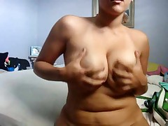 Cute corpulent girlfriend makes a porn tape for her boyfriend by dancing her curvy body around for the cam and playing with herself. That babe bends over to give a private look at her twat and asshole.