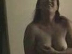 Insatiable and wild, this obese hottie loses any control when sees home camera in her lover's arms. That babe exposes large boobs and eats pecker.