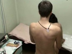 This nurse with full sticking tits could be fired if her boss discovered out that babe was fucking with her patient in the physiotherapeutic room! Enjoy the spy video with horny gal riding the dude and taking his shlong from behind!