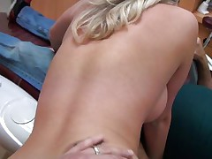 Cute young angel with long blond hair acquires it from behind from a lustful dentist. She really enjoys his really hard dick as u can watch it from her face. She widen her legs as that playgirl acquires willing for some pussylicking. Will he fuck her for valuable or will that playgirl be satisfied with just some cunnilingus?