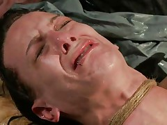 The fact she's scared and cries makes the punishment even sweeter for me. i fastened her hard and the rope around her neck almost suffocates her so why the fuck that babe cries instead of trying to breath? Well, that's that, perhaps some hard pussy rubbing with a sextoy will make her happy, or at least to moan not cry