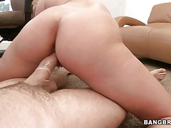 Watch this slutty blond moaning of joy during the time that that chick rides that large hard cock. Look at her perfect a-hole getting spanked and that weenie going in and out of her constricted pussy. After that that chick begins sucking that shlong with the condom on and acquires her a-hole back to work. Is this chab going to cum on her pretty face?