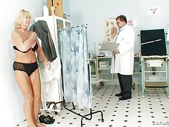 Greta often visits her doctor to check her body. Whilst she reaches there her doctor ordered her to put all her clothes off and then this chap begins his pussy scrutiny right after this chap squeezes her good boobs. U rally needs to see where this doctor ends up his examination.