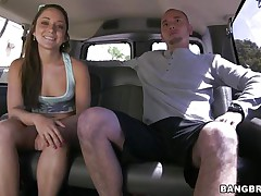 Gal Remy LaCroix is one time again delighting us with her sex drive. This time the sexy ass babe takes a ride white the gangbang bus and receives a hard cock between her moist lips and in that constricted hairless pussy of hers. Look at her working hard for some cum, ridding the man in cowgirl position