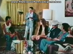 Classic porn with hot group scene interracial