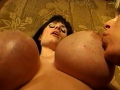 Biggest melons are bouncing everywhere as these three voluptuous gals...