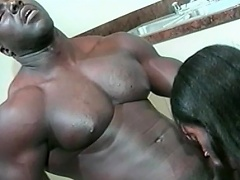 This hot black honey likes her man to be big and black. Watch this...