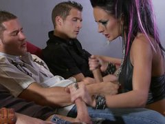 Moody Punk Girl Alektra Blue Gives Hot Blowjobs and Receives a Bukkake