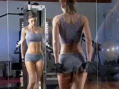 Veronica Zemanova works out and bathes nude