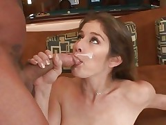 Sexual honey Felony loves guzzling down warm cum