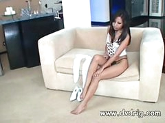 Incredible Asian Lady Nyomi Marcela Tries Out A Recent Couple Of Warm Nylons And Acquires So Excited This babe Starts Rubbing Her Clit In Delight