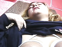 Hot whore receives hog tied and tit-tortured