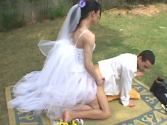 Wedding ceremony with transsexual bride results in sore a-hole of her wicked fiance