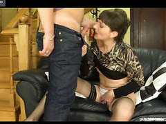 Dressed-up mother i'd like to fuck widens her legs seducing a horny dude into mghty dicking