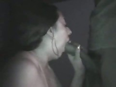 Amateur couple taping their sex on camera in a pure black room. This chick sucks, licks, jerks and squeezes her husband's penis as this chick awaits her sweet and sticky spunk flow