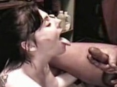 Slut Angie acquires a sperm shower from a large cock, all in slo motion. Angie sucks the cream from a large 10-Pounder until that babe is sprayed with a giant facial