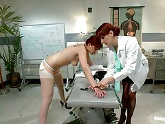 This is the kind of doc that you will barely await to see. She's a devilish redhead with a excitement to dominated, especially other sluts! Her patient came for a routine check and discovered herself in nature's garb and wazoo slapped until that hot wazoo turned red. Now that the doc slapped her she licks her a-hole with passion.