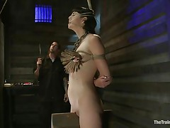 The valuable looking brunette hair milf Coral Aorta is having the enjoyment of a lifetime with her male friend. She has him punish her like this babe wants. That chap First attaches a bunch of clothespins to her tits, then this chap uses a large vibrator to enhance the pleasure. She starts moaning as this babe needs to have his cock inside her.