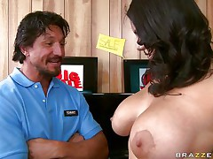 A lovely dark brown with huge giant billibongs and long hairy darksome hair acquires her tits massaged good by a lucky guy. She starts engulfing him off and playing with her nipples. Looking at her from this angle appears to be like that chick knows what that chick is doing. This dude just hopes this guy will get between her legs .
