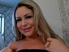 Brazilian slut gets face hole full of fresh loads of tasty jizz