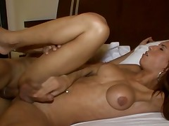 Hawt shemale implements her wild anal dreams