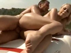 Slut on a boat has great big natural love muffins
