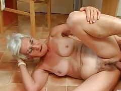 Insatiable Granny Just Loves Weenie !