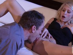 Hawt Tattooed Blonde Monique Alexander Gets Screwed and Covered In Jizz