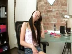 Evelina model office enjoyment on a chair