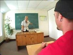 Heavily tattooed blond teacher screwed