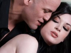 Perverted angel in collar is consummate angel in submission to him