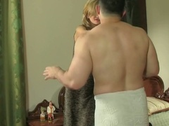 Cheating european boyfriend gets busty with pants in his pocket