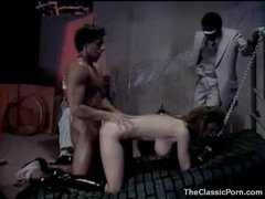 Lascivious girl in collar and leash fucked hard