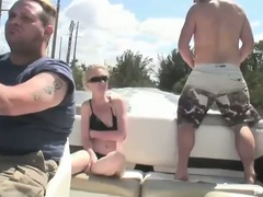 Slutty golden-haired bombshell scarlett summers outdoor fucking adventure