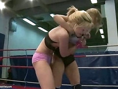 Hot juvenile blondes fighting