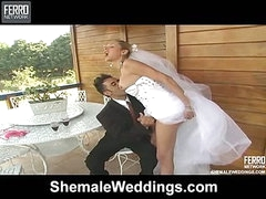 Camile stylish transsexual bride