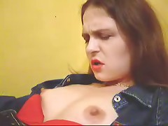 Watch now home-video of evil brunette hair with big breasts and hard nipps getting plenty of incredible pleasure.
