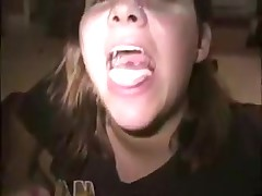 Delightsome girlfriend makes sucking dick look cute and innocent. This babe slobbers all over it and deep mouths him all the way to orgasm. This chab cums in her face gap and this babe spits it right out like a good girl.