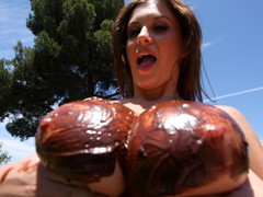 Sara Stone has the most outstanding set of biggest freakish natural zeppelins that are just beautiful. This Babe likes to drink cum right off her biggest zeppelins after a wonderful hard fucking. Those FREAKISH zeppelins receives u hard instantly during the time that they bounce up and down, and covered with chocolate frosting...