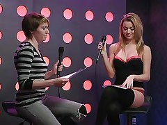 2 sexy gals speak live about sex in a jewish manner. They are broke and trying to buy something, but don`t have enough money. Those jokes about sex are truly turning 'em on. Besides looking for Mr. Right, the blonde desires to go down on her girlfriend for some money. This honey takes her brassiere off, it`s so hot.