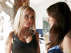 Raylene and Devon are hot lesbo MILFs who are playing with their hot bodies and getting excited together. Johnny Sins finds out this and placed a camera to capture it. Later he blackmailed 'em through this and start getting a warm welcome from both of those hottest ladies with their large meatballs and mind blowing asses!