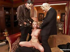 Sexy golden-haired floozy Zoey acquires fucked hard by five lustful males with face masks. This playgirl is recorded, during the time that her taut holes are getting filled with large hard dicks by turns. This playgirl groans with pleasure and craves greater amount and more. This playgirl opens her face hole to suck it deep. Who will cum first, that babe or they?