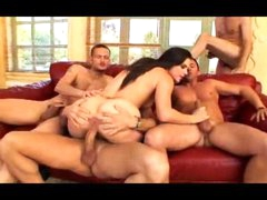 Bobbi Starr gangbang with a-hole stretching